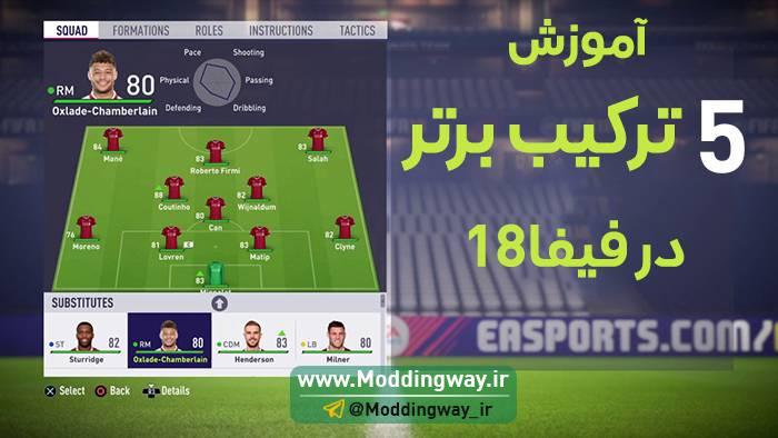 ترکیب چیدن در FIFA18 - آموزش چیدن 5 تا از بهترین ترکیب در FIFA18
