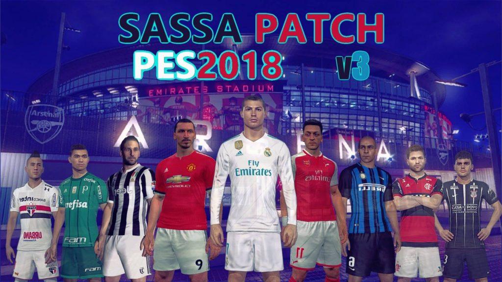 پچ 2018 1024x576 - دانلود پچ کامل PES 2018 Sassa Patch V3.1 [با حجم بالا]