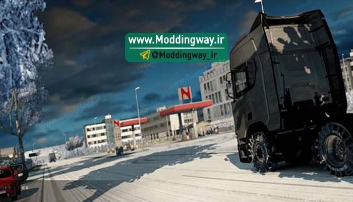 دانلود مد کامل و فوق العاده فصل زمستان ورژن جدید برای بازی Euro Truck Simulator 2