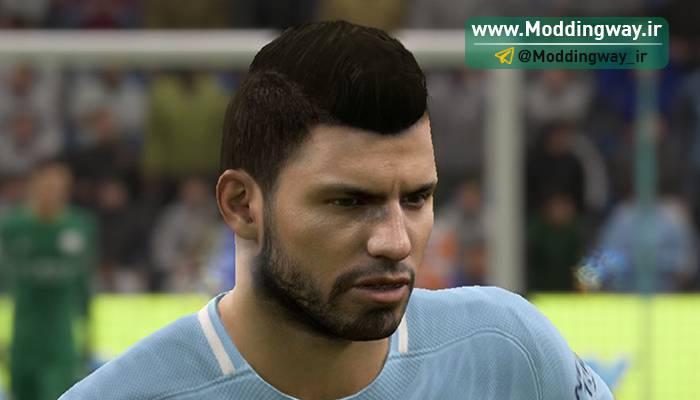 اگوئرو برای فیفا18 - فیس سرخیو آگوئرو برای FIFA18 توسط darthusi