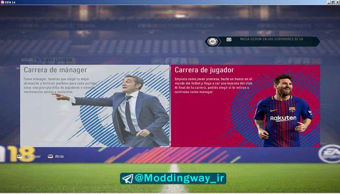 بارسلونا برای FIFA14 - دانلود تم گرافیکی بارسلونا برای FIFA14 (فصل 2018)