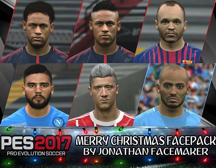 فیس پک Merry Christmas Facepack برای PES2017 توسط Jonathan