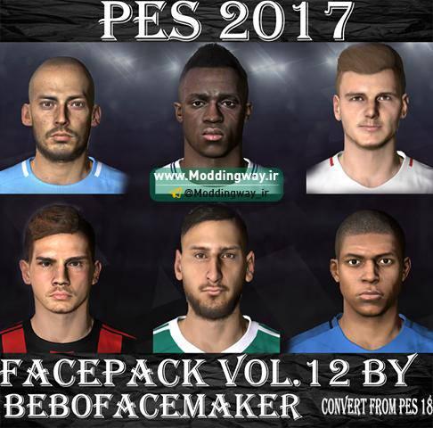 فیس پک Vol. 12 برای PES2017 توسط Bebo Facemaker