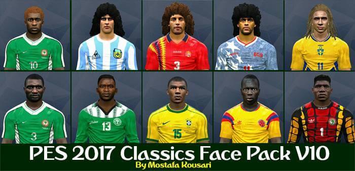 فیس پک کلاسیک Classics Face Pack V10 برای PES2017