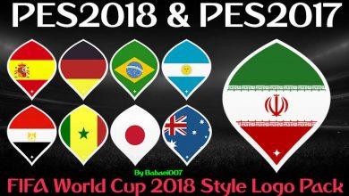 PES2018 World Cup 2018 Logo Style Pack 390x220 - دانلود لوگو پک جام جهانی 2018 برای PES2018 / 17