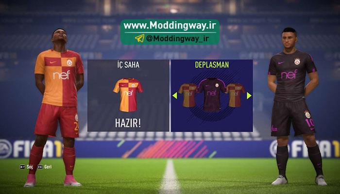 دانلود کیت تیم گالاتسترای ترکیه برای FIFA18