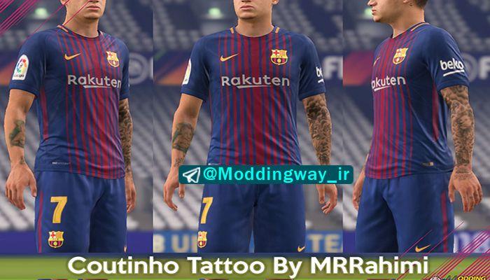 دانلود تتو Coutinho برای FIFA18 توسط MRRahimi