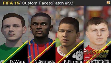 پک برای فیفا 15 390x220 - دانلود Face Pack 93 برای FIFA15 (تبدیلی از FIFA18)