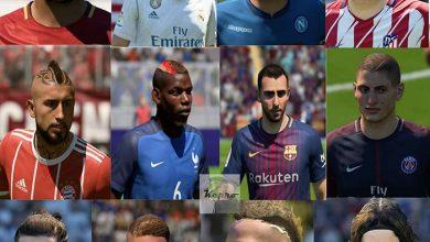 پک فیفا18 390x220 - دانلود مگا فیس پک V2 برای FIFA18 توسط Kepro
