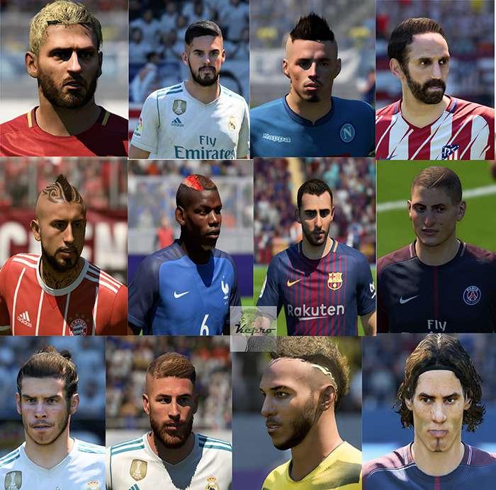 دانلود مگا فیس پک V2 برای FIFA18 توسط Kepro