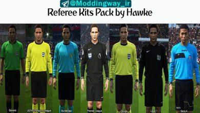 پک داوران PES 2018 390x220 - کیت پک داور Referee Kits Pack برای PES 2018 توسط Hawke