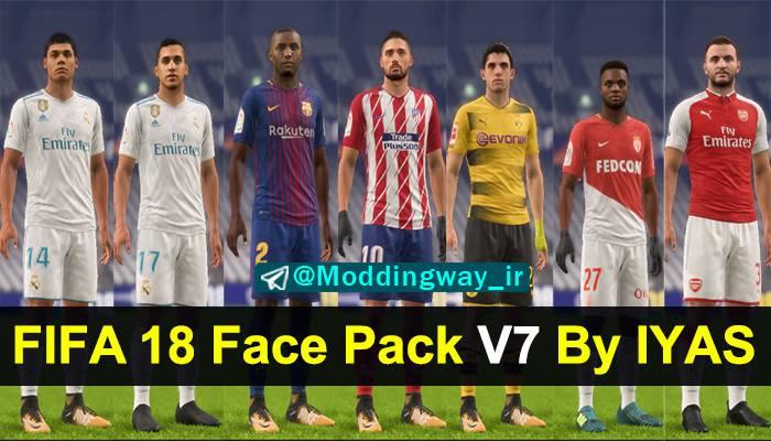 دانلود فیس پک V7 برای FIFA18 توسط Iyas Zaen