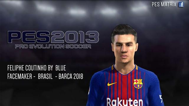 دانلود فیس Philippe Coutinho برای PES 2013