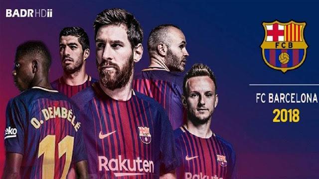دانلود تایتل بارسلونا 2018 برای PES2017