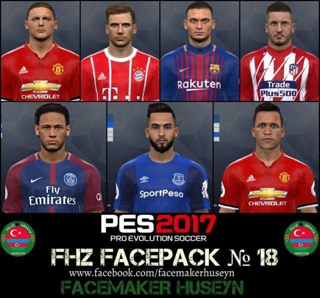 دانلود فیس پک FHZ Facepack No. 18 برای PES 2017