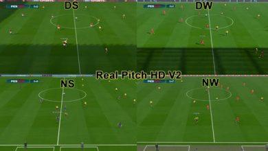 PES 2017 Real Pitch HD Pack 2  390x220 - پچ چمن واقعی Real Pitch HD برای PES 2017 (شامل 2 ورژن)