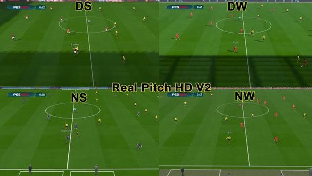 PES 2017 Real Pitch HD Pack 2  - پچ چمن واقعی Real Pitch HD برای PES 2017 (شامل 2 ورژن)