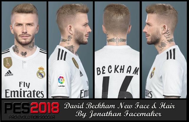 دانلود فیس David Beckham برای PES 2018 توسط Jonathan