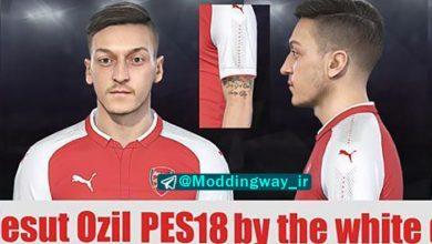 PES 2018 Mesut Ozil Face Tattoo 390x220 - تتو و فیس Ozil برای PES 2018 توسط TWD