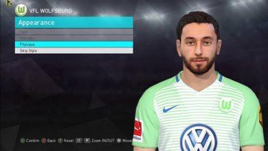 PES 2018 Yunus Malli Wolfsburg Face by Shaft  390x220 - دانلود فیس Yunus Malli برای PES 2018 توسط Shaft
