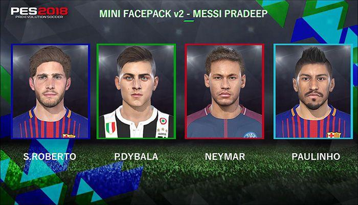 مینی فیس پک PES 2018 توسط Messi Pradeep (ورژن 2)
