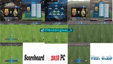 Scoreboard Pack 02ab 390x220 - دانلود Light and Simple Scoreboard برای PES2018 (ورژن 0.2)