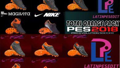 total orange pes2k18 390x220 - دانلود بوت پک Nike Black/Total Orange برای PES18/17