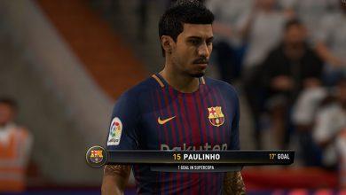 پائولینیو FIFA18 390x220 - دانلود تتو و فیس پائولینیو برای FIFA18