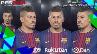PES 2018 Paulinho New Face Barcelona  390x220 - فیس پائولینیو برای PES 2018 توسط Sofyan Andri
