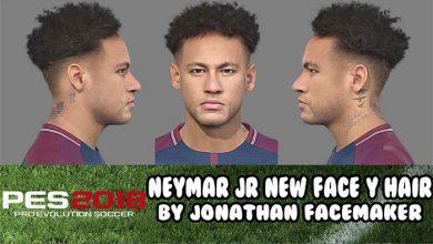 PES2018 Neymar Face and Hair Updated by Jonathan FM 390x220 - دانلود فیس و موی جدید نیمار برای PES 2018