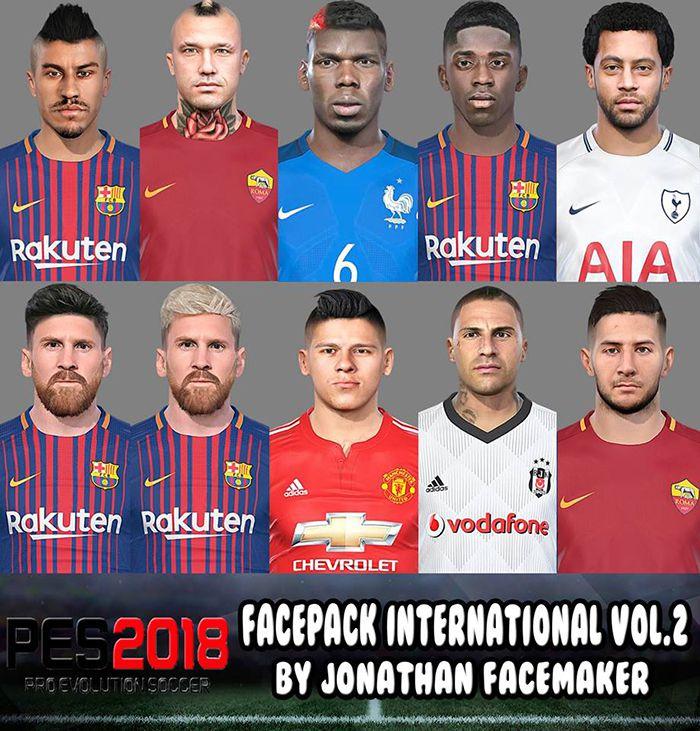 فیس پک International V2 برای PES 2018 توسط Jonatan