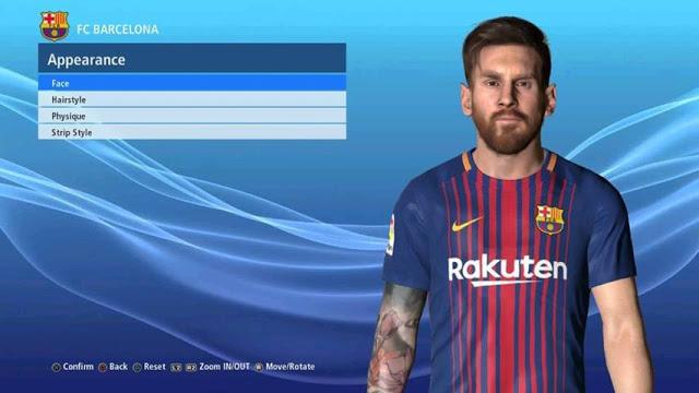 فیس Leo Messi V2 برای PES 2017 توسط Ben Hussam