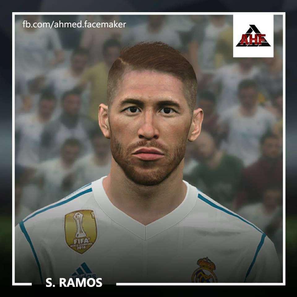 فیس Sergio Ramos V2 برای PES 2017 توسط ben Hossam