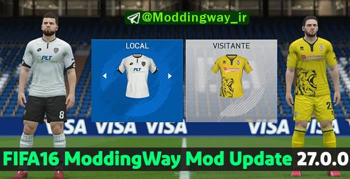 دانلود آپدیت پچ Moddingway 27.0.0 برای FIFA 16