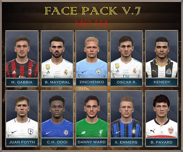 فیس پک FacePack vol. 7 by MoHa برای PES 2017