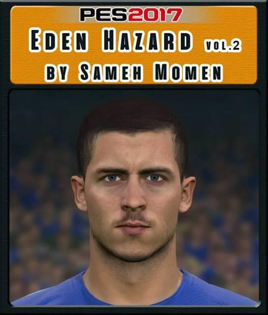 فیس Eden Hazard برای PES 2017 توسط Sameh Momen