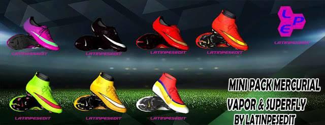 پک کفش Mercurial Vapor & SuperFly برای PES 2017