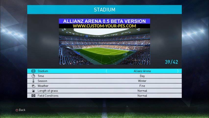 استادیوم Allianz Arena برای PES 2018 توسط Durandil PES
