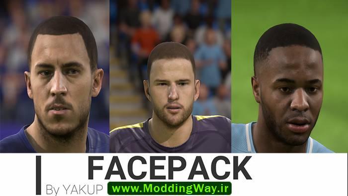 دانلود فیس پک FacePack برای FIFA 18 توسط Yakub
