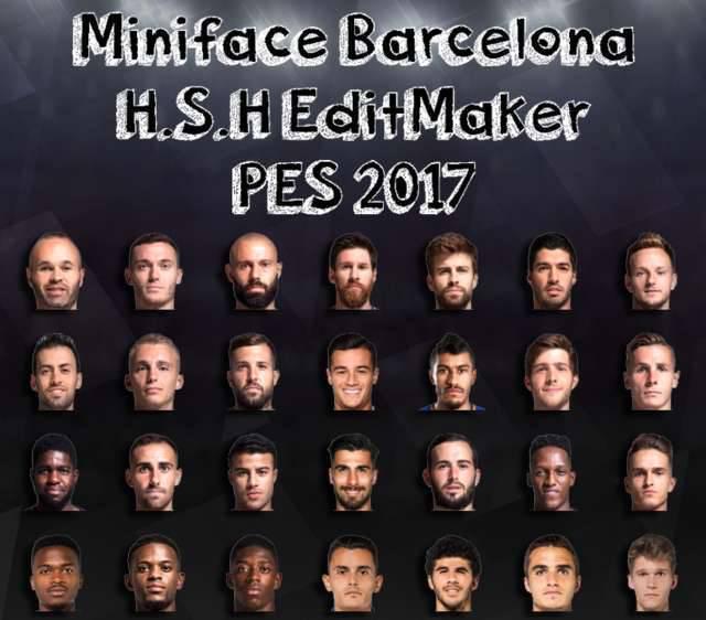 مینی فیس بارسلونا 2018/2019 برای PES 2017