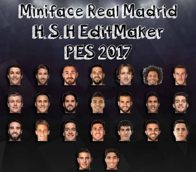 مینی فیس رئال مادرید 2018/2019 برای PES 2017