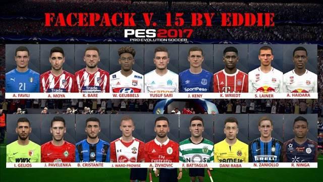 فیس پک V.15 برای PES 2017 توسط Eddie