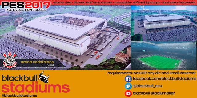 استادیوم با نمای بیرونی New Arena Corinthians برای PES 2017