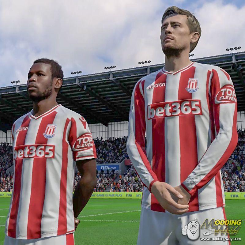 دانلود کیت فصل 2018/2019 استوک سیتی برای FIFA18