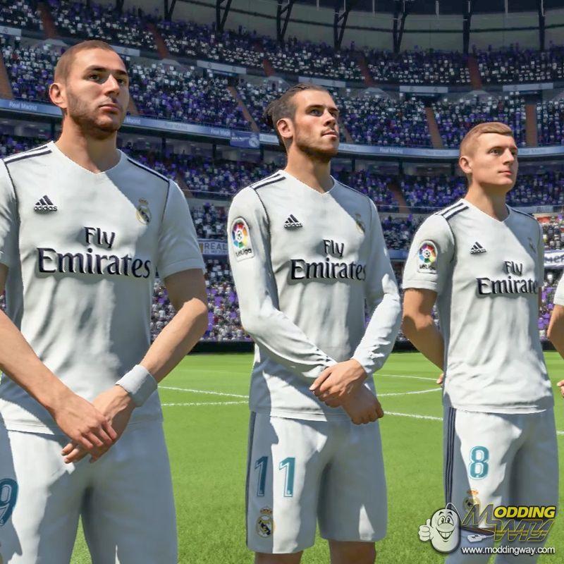 دانلود کیت فصل 2018/2019 رئال مادرید برای FIFA18