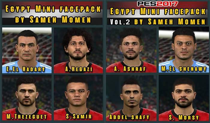 فیس پک مصر برای PES 2017 در جام جهانی (ورژن 1 و 2)