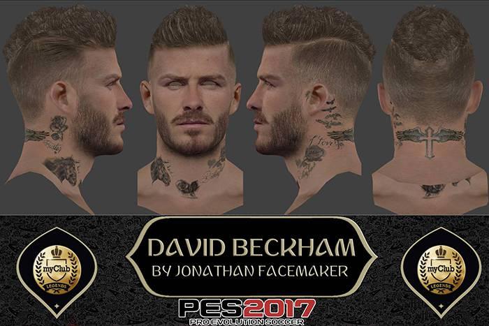 فیس و موی Beckham برای PES 2017 توسط Jonathan