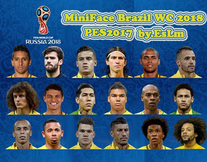 مینی فیس پک برزیل جام جهانی 2018 برای PES 2017