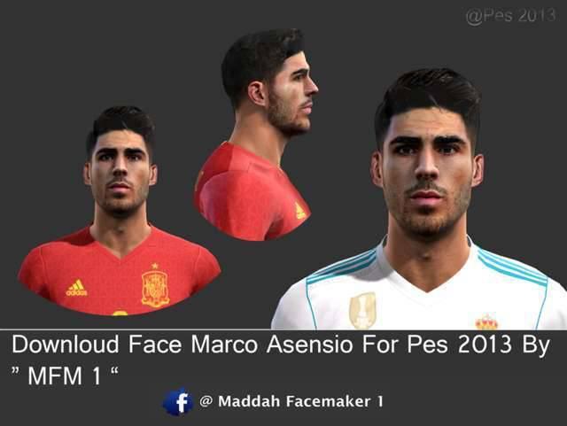 فیس مارکوس آسنسیو برای PES 2013 ( جام جهانی 2018)