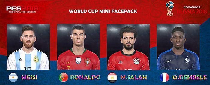 مینی فیس پک جام جهانی برای PES 2018